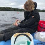 Planktonprovtagning i Hjälmsjön