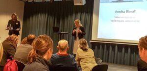Annika Ekvall, vattenvårdsdirektör för Västrehavets vattendistrikt öppnar 2019 års vattenrådsdag i Göteborg. Foto: Richard Nilsson
