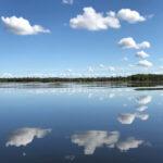 Vy över Sätoftasjön, en bit ifrån provpunkt Ri5.